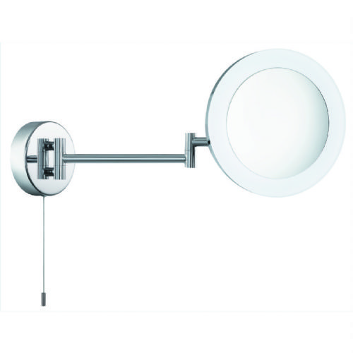 BATHROOM SHAVING MIRROR, 3 x  MAGNIFICATION, IP44, CHROME, FROSTED OUTER 1456CC